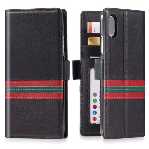 iPhone XS Max Italian Full Grian Leather Flip Wallet Case For iPhone XS Max - Milan Series