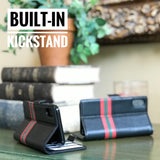 iPhone X Italian Full Grian Leather Flip Wallet Case For iPhone X - Milan Series