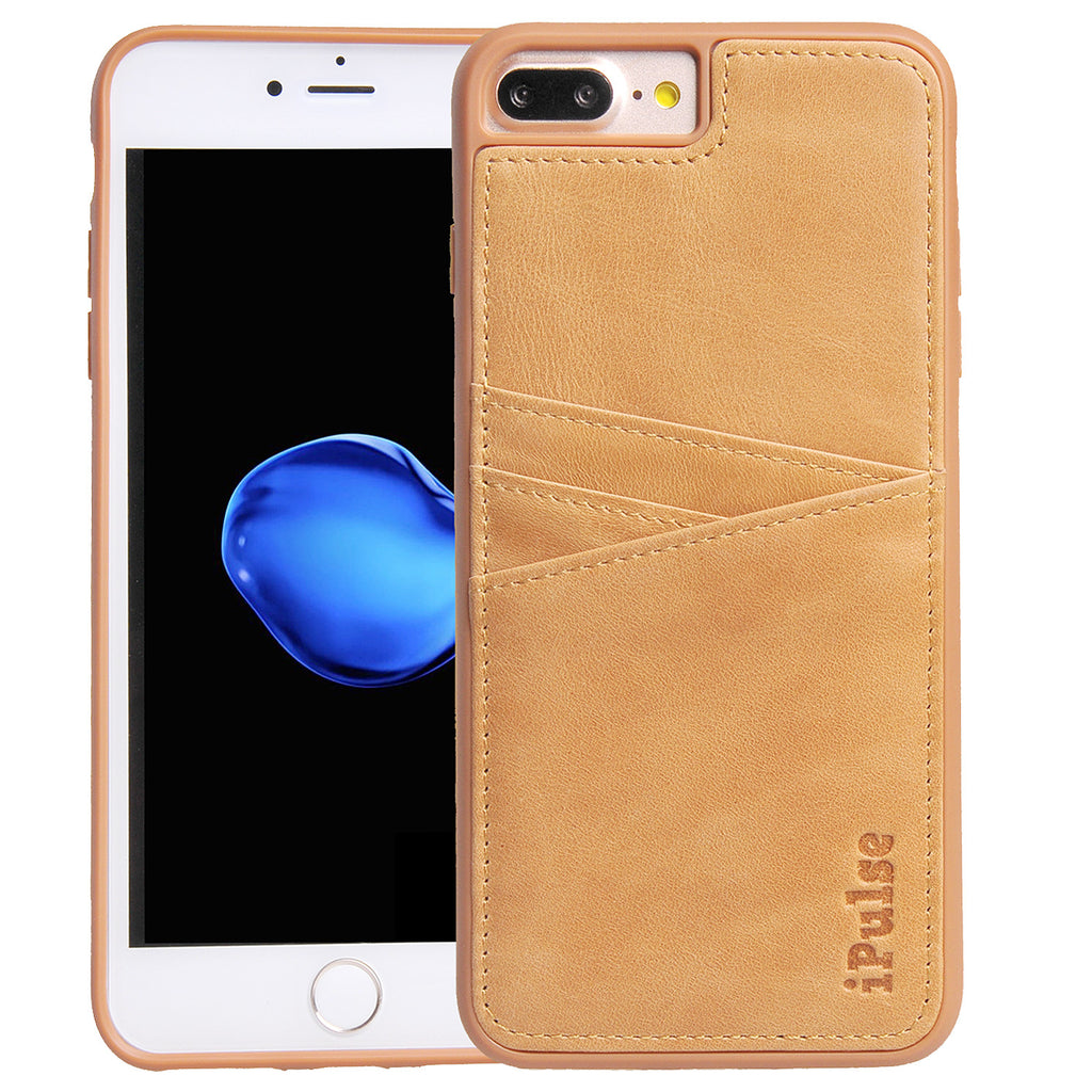 Iphone 7 Plus Genuine Italian Full Grian Leather Snap On Wallet Case W Ipulsecases