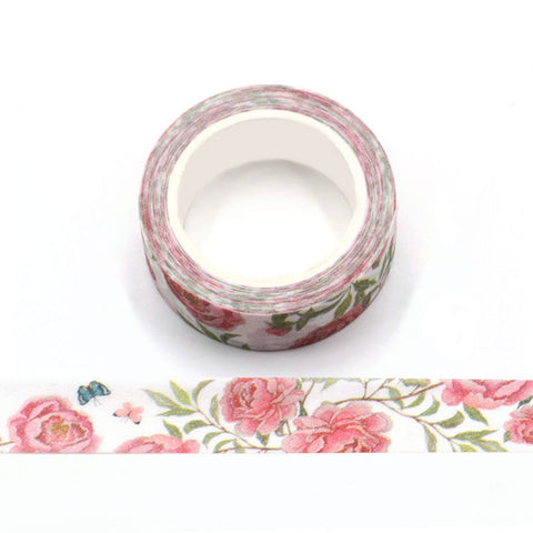 Red Roses Sparkle Washi Tape