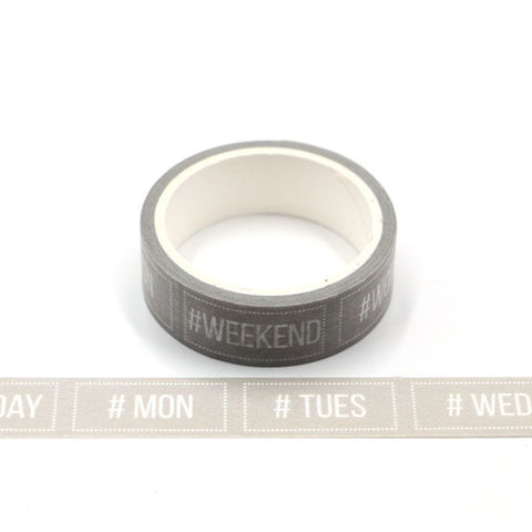 Days of Week Perforated Washi Tape