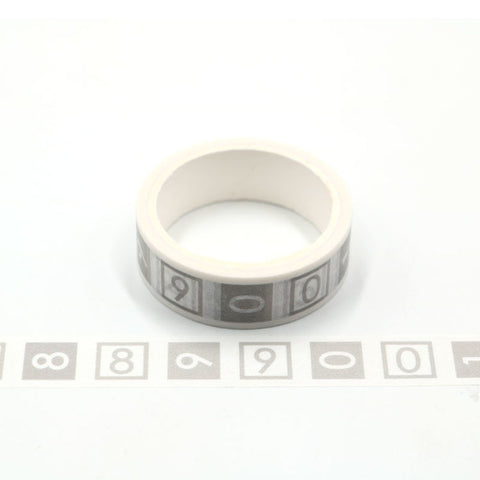 Numbers Perforated Washi Tape