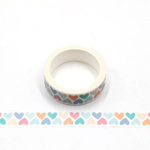 Pastel Hearts Washi Tape