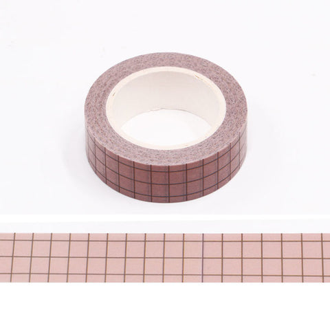 Pink Grid Washi Tape