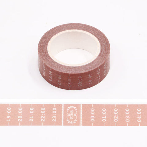 Typewriter Hours Washi Tape