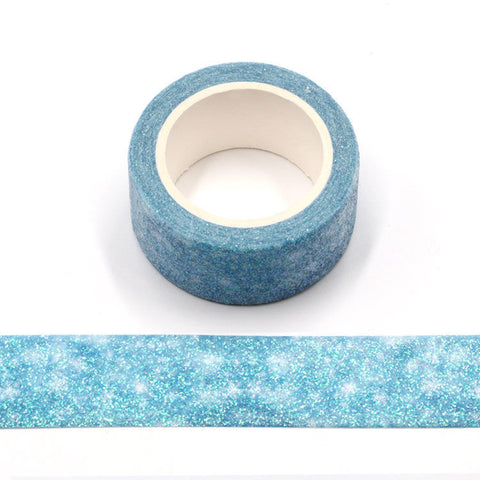 Snowy Sky Wide Glitter Washi Tape