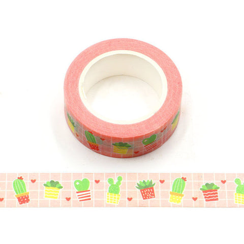 Cacti and Hearts Washi Tape