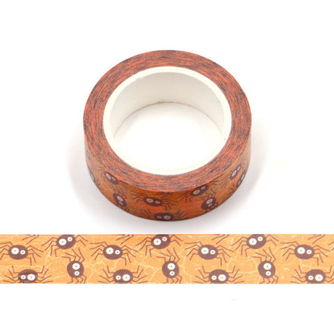 Spiders on Orange Washi Tape
