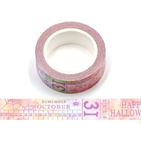 Rainbow Halloween Text Washi Tape