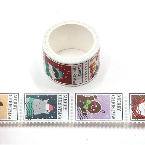 Christmas Stamps Perforated Washi Tape