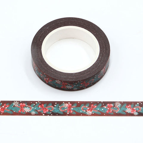 Pine Needles and Candy Cane Skinny Washi Tape