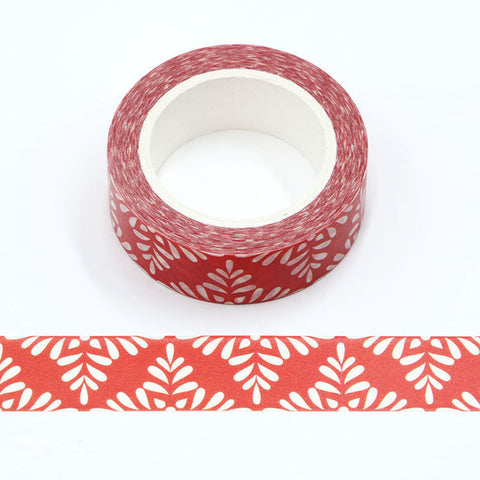 Red with White Pattern Washi Tape