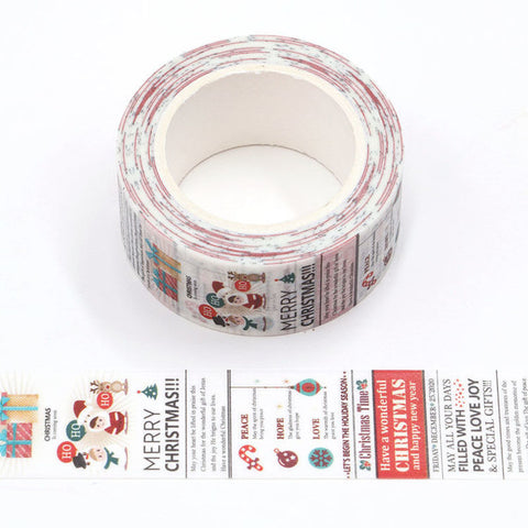 Christmas News Wide Washi Tape