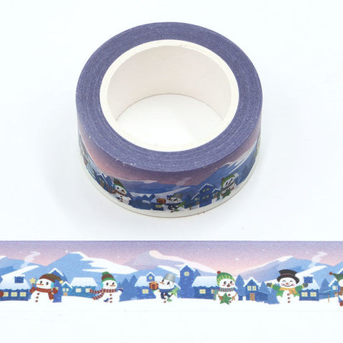 Snowmen at Night Wide Washi Tape