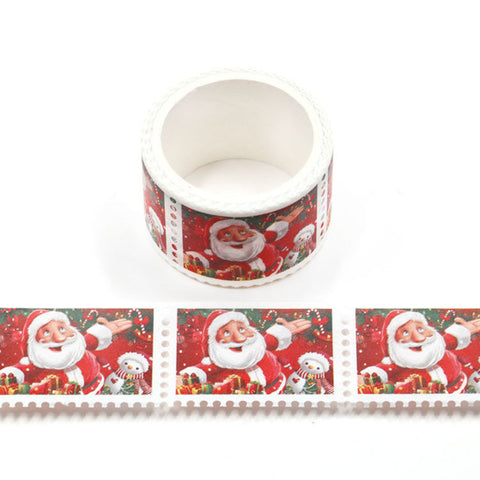 Santa Stamps Perforated Washi Tape