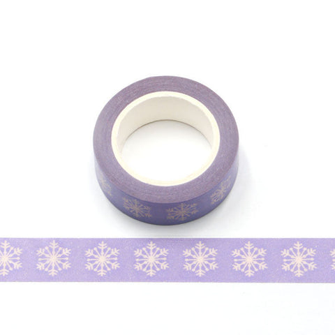 Lavender with Snowflakes Washi Tape