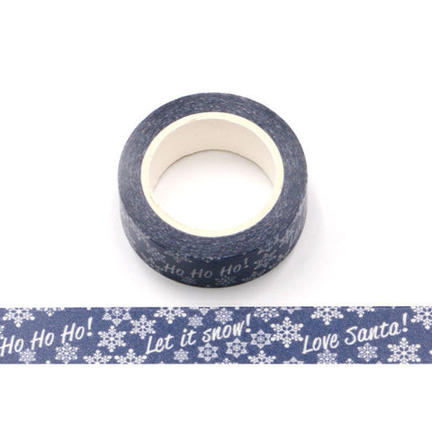 Blue Ho Ho Ho Love Santa Washi Tape
