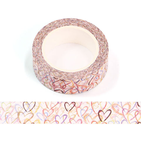 Colorful Hearts Washi Tape