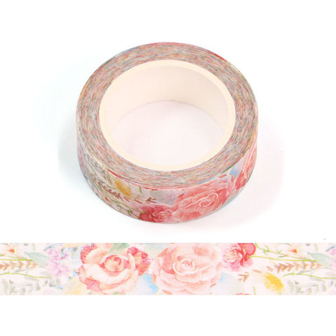 Hand Painted Roses Washi Tape