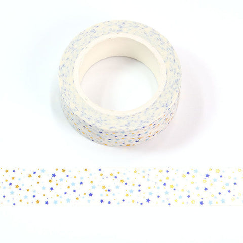 Blue and Gold Stars Washi Tape