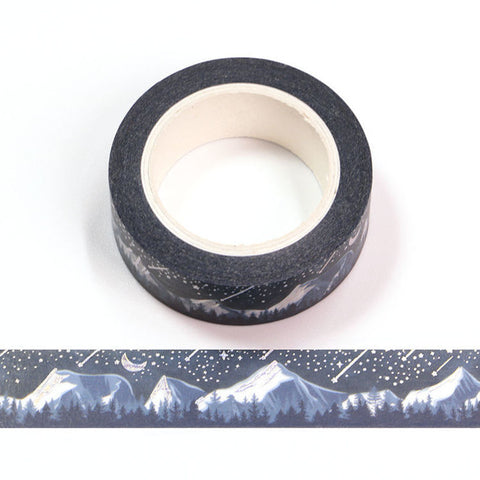 Silver Shooting Stars Washi Tape