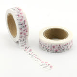 Pretty Pink Wildflowers Washi Tape