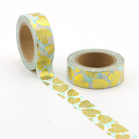 Gold Foil Tropical Washi Tape