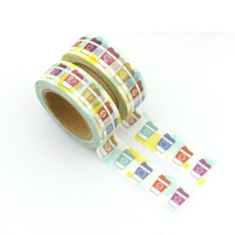 Colorful Coffee Washi Tape