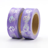 Purple Clouds with Foil Gems Washi Tape
