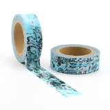 Blue Map the World Washi Tape
