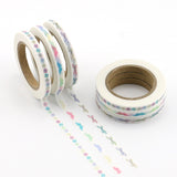 Pastel Prints Skinny Washi Tape Set of Three