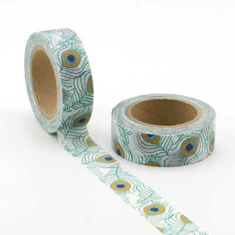 Pretty Peacock Feather Washi Tape