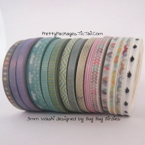 3mm Super Skinny Washi Tape #1 **Doorbuster**