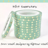 3mm Foil Super Skinny Washi Tape