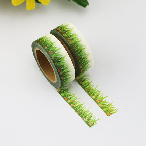 Grass with Spring Surprises Washi Tape