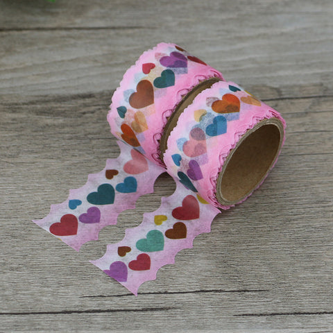 Lovely Hearts Die Cut Washi Tape