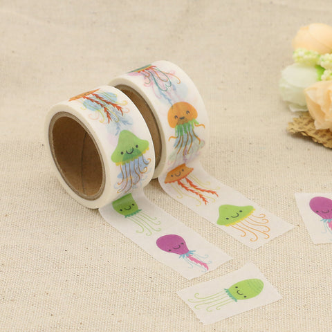 Joyful Jellyfish Perforated Washi Tape