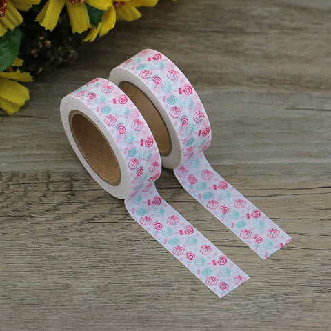Pink and Green Presents and Candy Washi Tape