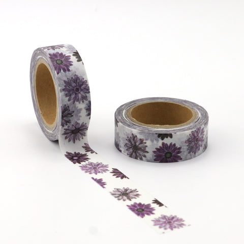 Purple Flower Power Washi Tape