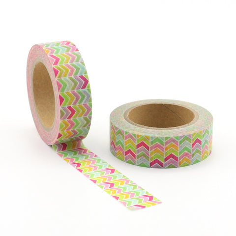 Rainbow Chevron Columns Washi Tape