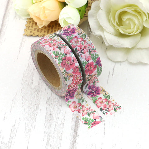Pink and Purple Flowers Washi Tape