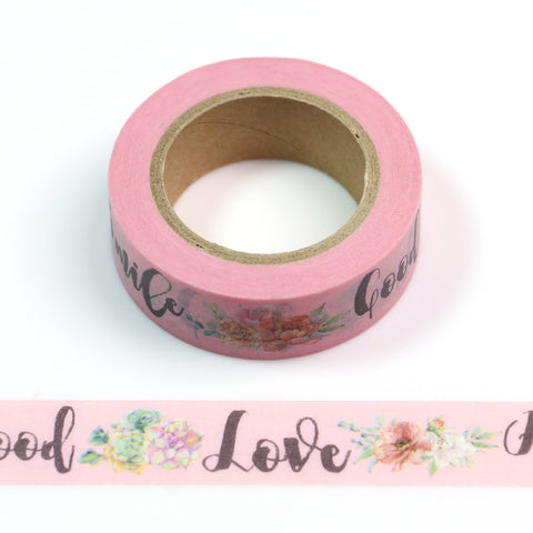 Flowers and Lovely Words Washi Tape