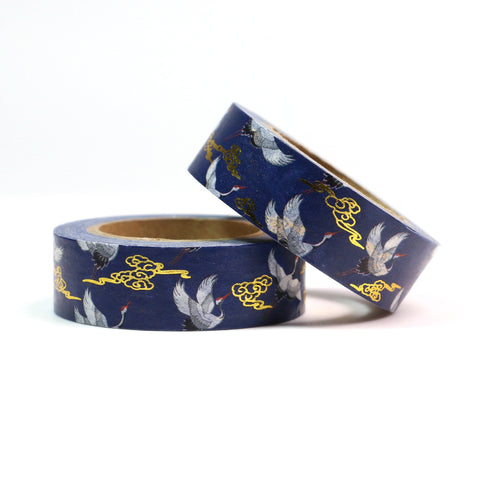 Flying Cranes Foil Washi Tape