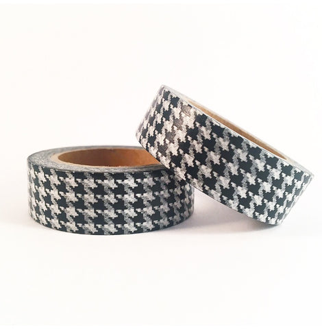 Black Houndstooth Washi Tape