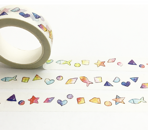 Rainbow Shapes Washi Tape