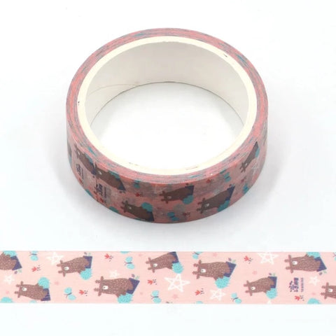 Cartoon Strange Reindeer Washi Tape
