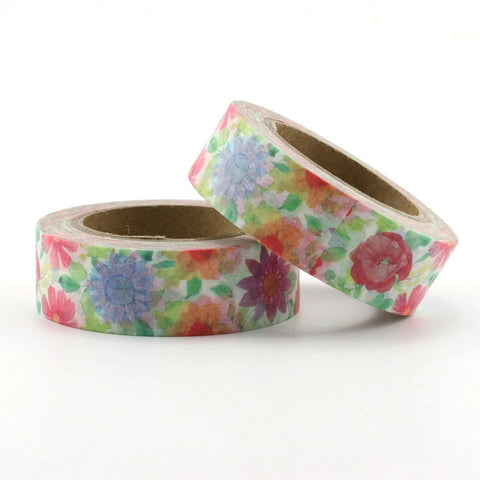 Bright Flowers Washi Tape