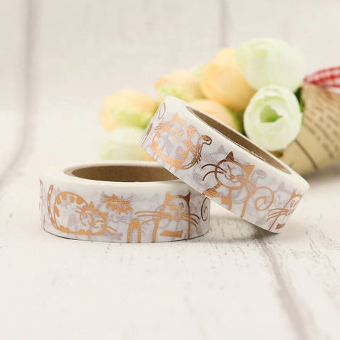 Rose Gold Cats Washi Tape