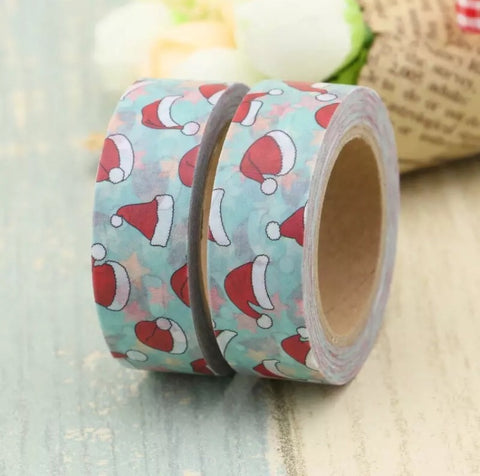 Santa's Hat with Stars Washi Tape