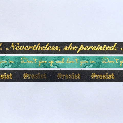 Custom Speak Out Washi Tape